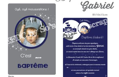 Le faire part du petit pirate Gabriel ...