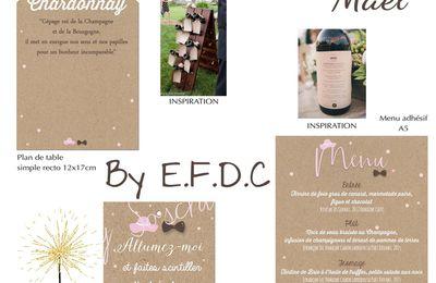 Les options de mariage de Mael assorties au faire part ... thème vin et chapeau