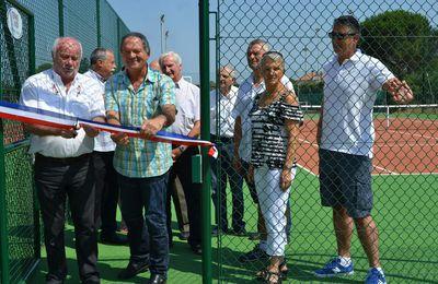 Inauguration de deux courts de Tennis