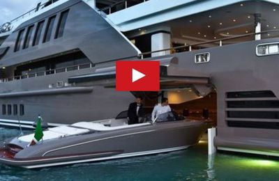 VIDEO - J'Ade, premier super-yacht au monde à disposer d'un garage à flot