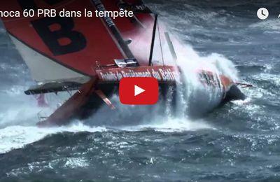 VIDEO - 1.34 minute de frisson avec Vincent Riou, sur PRB, en pleine tempête