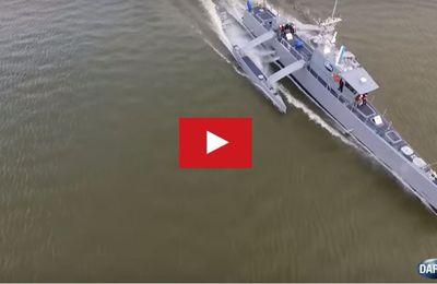 VIDEO - un drone naval géant, trimaran, pour la lutte anti-sous-marine
