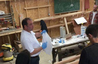 A Douarnenez, West System à la rencontre des élèves des Ateliers de l'Enfer