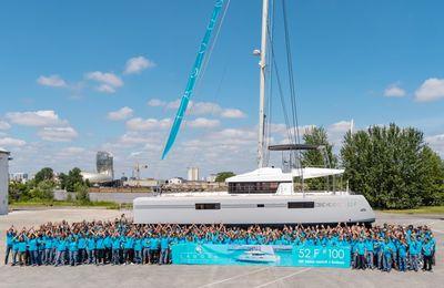 A Bordeaux, CNB fête son 100e catamaran Lagoon 52 F
