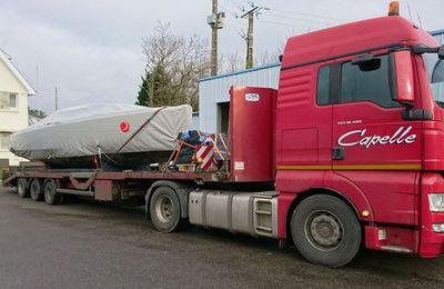 Le Mojito 888 du chantier breton IDB Marine en route vers le Boot de Düsseldorf