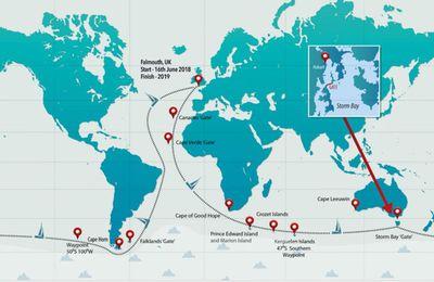 Quelle route, pour la Golden Globe Race 2018, le tour du monde à la voile à l'ancienne ?