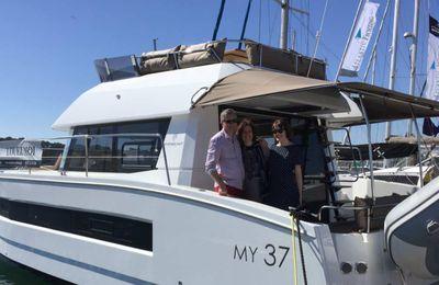 Témoignage de plaisanciers - A Lorient, Emmanuelle et Gilles nous parlent de leur nouveau catamaran Fountaine-Pajot MY 37