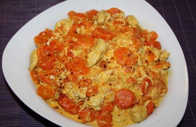 poulet carottes au curry