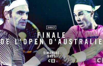 [Infos TV] La finale de l'Open d'Australie Federer / Nadal à suivre ce dimanche à 09h30 sur C8 et Eurosport !