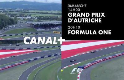 [Infos TV] Le Grand Prix d'Autriche à suivre ce week-end sur Canal Plus !