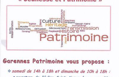 Journées Européennes du Patrimoine les 16 et 17 septembre 2017