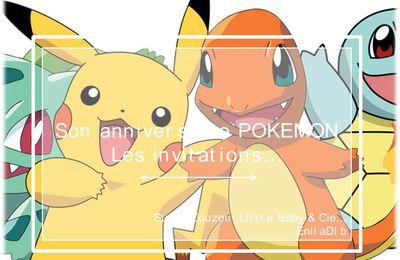 Super-Zouzou et... Son anniversaire Pokemon… #1 : Les invitations