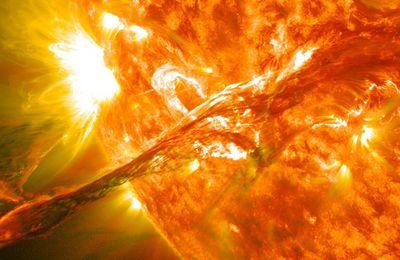 Une grosse éruption solaire pourrait vaporiser l'atmosphère terrestre comme sur Mars!