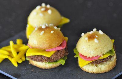 Petits gâteaux en forme de hambuger, du fast food bon pour la santé !