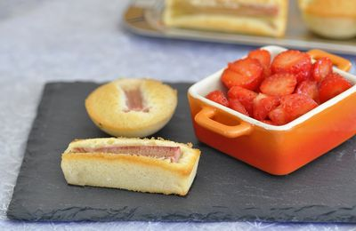 Financiers à la rhubarbe