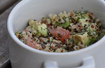 Salade de quinoa aux agrumes et avocat