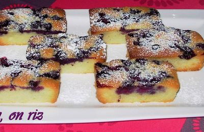 Financiers aux myrtilles