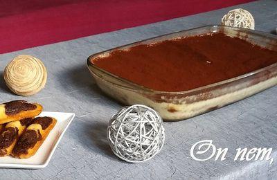Tiramisù aux madeleines marbrées
