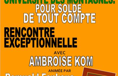 Pour solde de tout compte : Ambroise Kom le 5 mai à Présence Africaine (Paris)