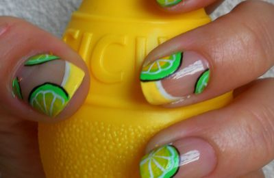 Nail art citronné
