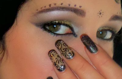 Maquillage arabesque, make up pour mon nail art arabesque