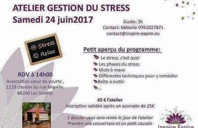 "Association ""Coeur de Yourte""‎Atelier gestion du Stress"