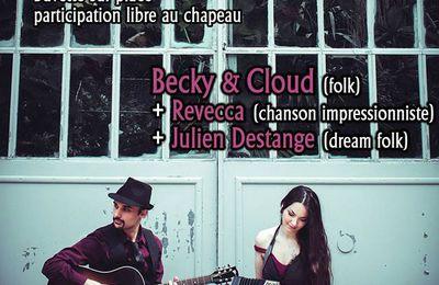 Concert Becky & Cloud sous Coeur de Yourte