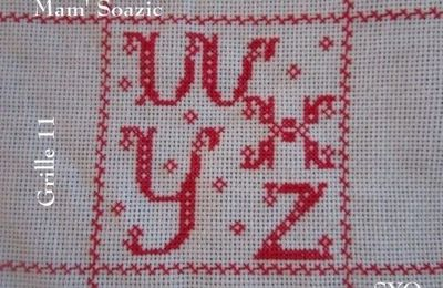 SAL : Plaid Broderie Rouge... Grille 11 / L12