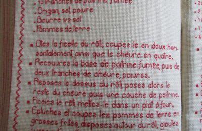 Livre Recettes Brodées de Mamigoz: Rôti de Porc au Chèvre