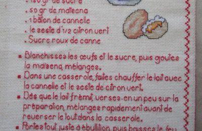 Livre Recettes Brodées de Mamigoz: La Crème Catalane
