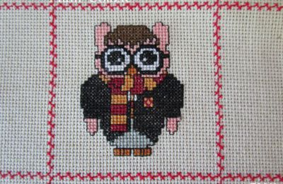 Chouette brodée  41 :  Harry Potter