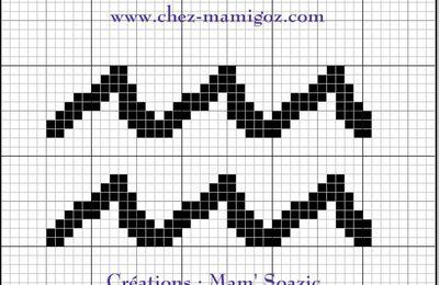 Pictogramme Zodiaque à broder : le Verseau