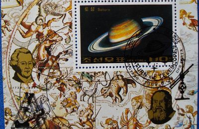 "feuillet ""Saturn and Telescopes"", Corée 1989"