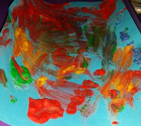 Peinture gonfante colorée