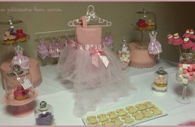 Sweet table / Candy bar baptême bébé fille