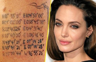Le tatouage d'Angelina Jolie