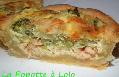 Tartelettes Saumon Brocolis / pâte sablée au parmesan