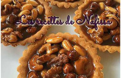 Tartelettes caramel fruits secs