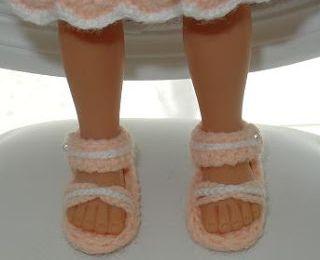 sandales poupées Chérie (tutoriel gratuit - DIY)