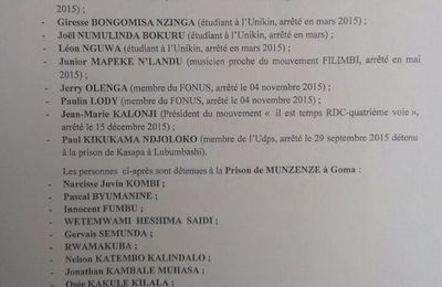 Yves Makwambala et autres du mouvement Lucha désormais libres en RDC