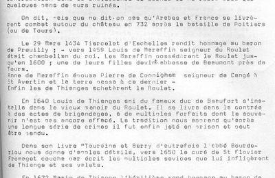 Cahier n°6 : le Roulet à Saint Flovier