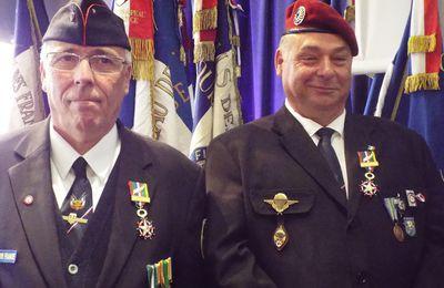 le Président Paul DEMARCHI et son Porte Drapeau à l'Honneur