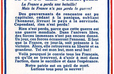 18 Juin 1940 l'Appel