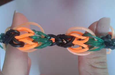 "Halloween j- 8 : Bracelet  ""citrouille"""