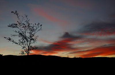 Dernière super lune et coucher de soleil