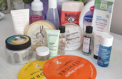 Mes produits terminés de septembre, partie 2: The body hop, quiriness, bath and body works...