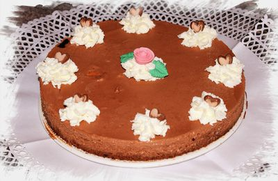 Tarta brownie y mousse de chocolate