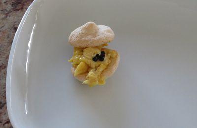 Macarons à la brouillade d'oeufs