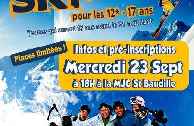 Séjour ski 2016...déjà les pré-inscriptions !
