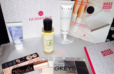 GlossyBox Novembre 2015 : Rose Carpet
